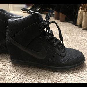 Black Nike Wedge Sneakers